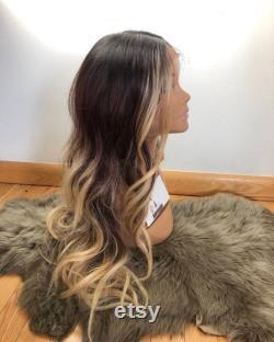 22 NOIR brun blonde dentelle avant WIG NWT grand espace de partie avant