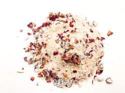 24 COMTE 8oz. Rose Bain de lait de coco Soak Vente en gros de sels de bain de luxe Marque privée Emballé tout le sel de bain végétalien naturel