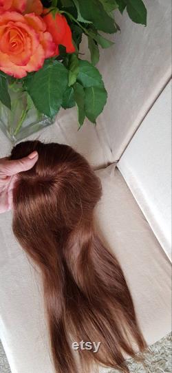 4x4 Pièce de topper de dentelle pour amincissement cheveux minces. topper de cheveux. 100 remy cheveux humains. 50g avec 4-5 clips attachés. Livraison gratuite