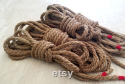 6mm 200' Custom Lengths Soft Hemp Rope (fr) Conditionné avec l'huile de Jojoba Whipped Ends pour Shibari Riggers, BDSM et Erotic Bondage Mature