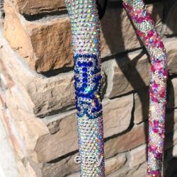 A voir absolument Cane de marche personnalisée strassée à la main avec cristal Bling, Glamour Custom Designs, Longueur