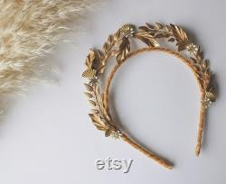 Accessoire de cheveux nuptial, couronne nuptiale, accessoire de cheveux de mariage, morceaux de cheveux de mariage, couvre-chefs de mariée, couronne de mariage, diadème de mariée, Boho