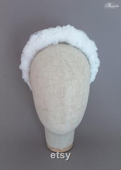 Accessoires de cheveux de mariage pour la mariée moderne bandeau blanc casque de mariage pièce de cheveux de mariée Boho casque Genesis