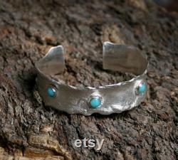 Amazonite péruvienne and Barrette à cheveux en argent Sterling Bord de l eau série de bord de mer. En argent réticulé. Unique en son genre. Design exclusif.