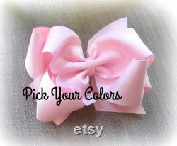 Arcs à cheveux, Big Bows, 6 Pouces Hairbows, Bow Bundles, Hairbow Sets, You Pick 10 Bows, Girls Headbands, Large Bows, Double Stacked Bows, Jumbo
