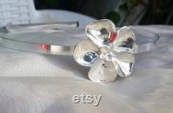 Argent 925 Bandeau fait main Artisan Fabriqué fleur de filles de femmes mariée accessoires de cheveux de maria