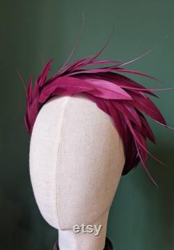 Bandeau Halo Wide Feather Bandeaux sur mesure Bandeaux made to order bandeaux rembourrés bandeaux de mariage- bandeaux de jour de course Couture