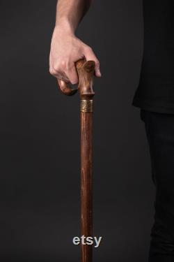 Bâton de marche pour hommes Canne de marche pour les femmes, canne à bâton de marche en bois Cadeau pour l anniversaire