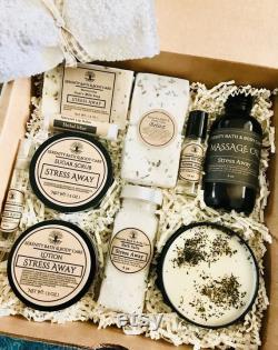 Boîte cadeau d aromathérapie de soulagement de stress de luxe Ensemble cadeau spa de relaxation Panier-cadeau spa Cadeau d anniversaire Stress Away Cadeau Penser à vous cadeaux