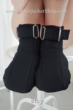 Bottes de retenue noire Bottes élégantes rembourrées douces Bondage BDSM Kinky Black ABDL DDGL Goth