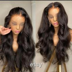 Brazilian Body Wave 150 Density Human Hair Wigs, Natural Long Hair, Pre-plucked Lace Frontal Human Hair Extension, Elegant Fashion Wig.