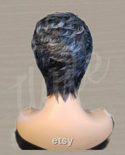CASSIE GLUELESS PIXIE Coupe conique 100 Perruque de cheveux humains