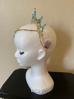 Casque blue ballet Le Corsaire La Bayadere Esmeralda Talisman Danse arabe Princesse Florine -ballet couronne ballet diadème