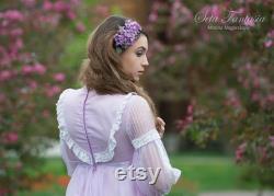 Casque de mariage lilas, Fleur pourpre, Clip de cheveux lilas, Fleurs lilas, Clip de cheveux de fleur