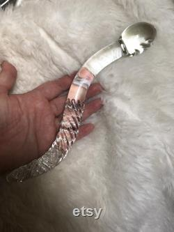 Cervix Serpent 2.0 Large Clear Glass Curved Yoni Wand Sacred Sexuality Pleasure Wand Yoni Wand Glass Cervical Wand