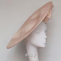 Chapeau royal d ascot rose pâle, chapeau de derby du Kentucky, chapeau de mariage, mère du chapeau de mariée