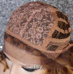 Cheveux humains mélange full lace front perruque Light Medium Dark Auburn Blonde mix Hand Tied minimal free parting voir pics Cancer Alopecia Cosplay