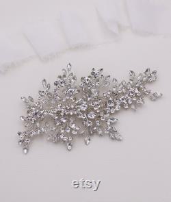 Clip de cheveux nuptiale, Crystal Bridal Clip, Nuptial Clip Crystal, Peigne à cheveux en cristal de mariage, Peigne à cheveux, Accessoire de mariage, Aurora Crystal Clip