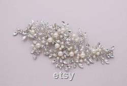 Comb de cheveux de mariée, clip de mariée Swarovski, cristal de peigne de mariée, peigne de cheveux de cristal de mariage, peigne de cheveux, accessoire de mariage, clip de perle d aurore