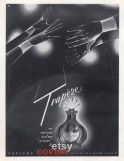 Corday trapèze Vintage Fran ais parfum collection fleuri en verre des années 1950 inutilisés Rare Antique parfum flacon Eau de Parfum