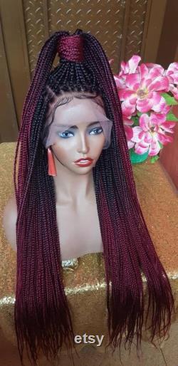 Coumba perruque tressée à la main full lace Perruque tressée Perruques tressées pour femmes