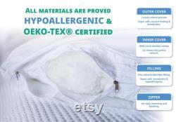 Coussins de grossesse naturels pour le sommeil Soutien intégral pour adultes