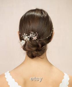 Créez votre propre coiffure de mariée avec guirlande de cheveux de perle d eau douce et épingles à cheveux mélange et allumette, vigne de cheveux personnalisés, vigne de cheveux de mariée