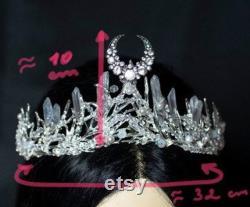 Diana lune déesse cristal casque couronne Elven fantasy diadème diadème