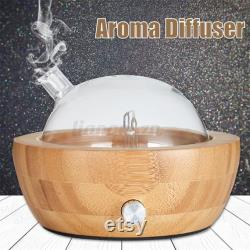Diffuseur silencieux d arôme de verre de grain de bois de diffuseur d huile essentielle de bois
