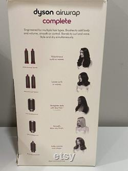 Dyson Airwrap Complete Styler For Multiple Hair Types and Styles Full Accessoires (Nickel and Fuchsia) HS01