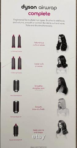 Dyson Airwrap Complete Styler Multiple Hair Types and Styles Full Accessoires (Fuchsia Nickel) HS01