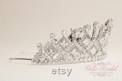 EXPÉDITION RAPIDE Zirconia Silver Tiara, Quinceaàera Tiara, Crystal Tiara, Silver Tiara, Crown Wedding Headpiece, Silver Tiara, Headpiece.