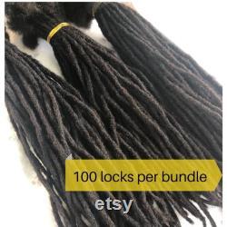 Extensions Micro Dreadlock. 100 cheveux humains Dreadlocks Locs fait main. 100 par paquet