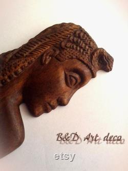 Femmes accessoires pour cheveux, cheveux en bois fourche Queen Cleopatra, fait à la main, une fourchette de cheveux en bois, épingles de châle, bâtons de cheveux, accessoires de cheveux en bois naturel