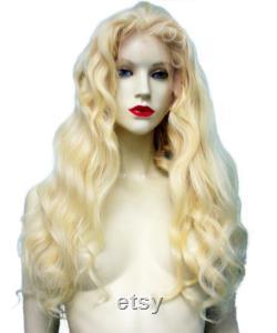 Homme cheveux Avant de dentelle Perruque Blonde Remi Remy Indien