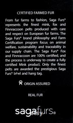 Jet Black Fox Fur Luxe élégant Headband Headwrap Ear Warmer