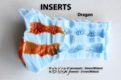 Jouet de sexe de dragon de scalie de deux trous