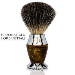 Kit de rasage luxueux personnalisé Ensemble de rasage brosse de blaireau cadeaux de Noel pour hommes bol à raser en bois cadeaux pour papa fête des pères