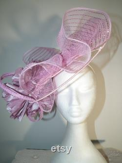 LULU BELLE haut de gamme de course de printemps couture rose tête de série fascinator Melbourne Cup vêtements de course Watt Millinery sheer grand chapeau Dubaï Kentucky