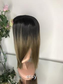 La cequielle réaliste Synthetic Wig Balayage Bronde