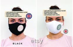 Masques de visage personnalisés en vrac avec poche de filtre, masques d affaires, masques de visage d entreprise, masques personnalisés pour des affaires