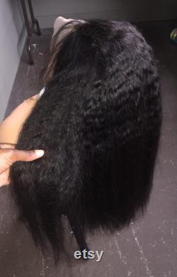 Meilleure qualité brésilienne Kinky Bleached noeuds Straight 200 Density Glueless Full Lace Perruques