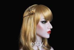 Or Swarovski Celestial Star Tiara années 1920 Starburst pièce de cheveux Art Déco Bridal Back Tiara Crystal Wedding Headpiece Ceinture de mariage Céleste Robe de mariée