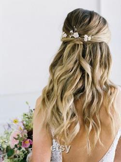PRESQUE AUTOMNE broches de cheveux de mariée florale, épingles à cheveux de mariage, épingles à cheveux florales coiffure de mariage, épingles à fleurs