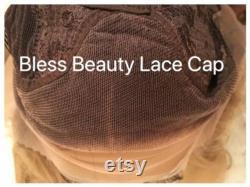 PRÊT À EXPÉdier blonde platine. perruque avant en dentelle ondulée. mélange de cheveux humains. BlessWig (BlessWig)