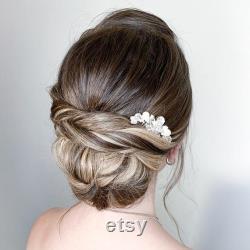 Peigne décoratif, Peigne de mariage de Boho, peigne de mariée, peigne de cheveux argentés, casque de perle, peigne de cheveux de perle d or, peigne de cheveux latéraux, décoration de voile