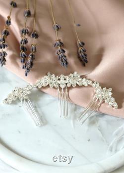 Peigne nuptial de cheveux, peigne de cheveux de Swarovski, peigne latéral de cheveux, accessoires de cheveux de mariée, peigne de cheveux d or rose, peigne nuptial de cheveux argentés, bijoux nuptials