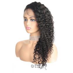 Perruque en dentelle à ondes profondes, perruque avant en dentelle, perruque longue bouclée, perruque pour femme noire, perruque pastel, perruque quotidienne, perruque dame de mode, perruque pour la perte de cheveux