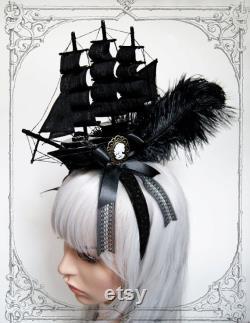 Pirate Ship Headdress ( Fascinateur, Goth, Baroque, Rococo, Marie Antoinette.)