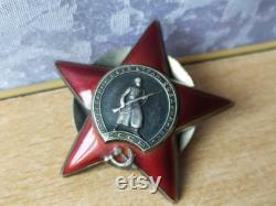 RAR vintage Medal Russia Soviet Silver 1945 Ussr Award WW2 RED Star War 1721096